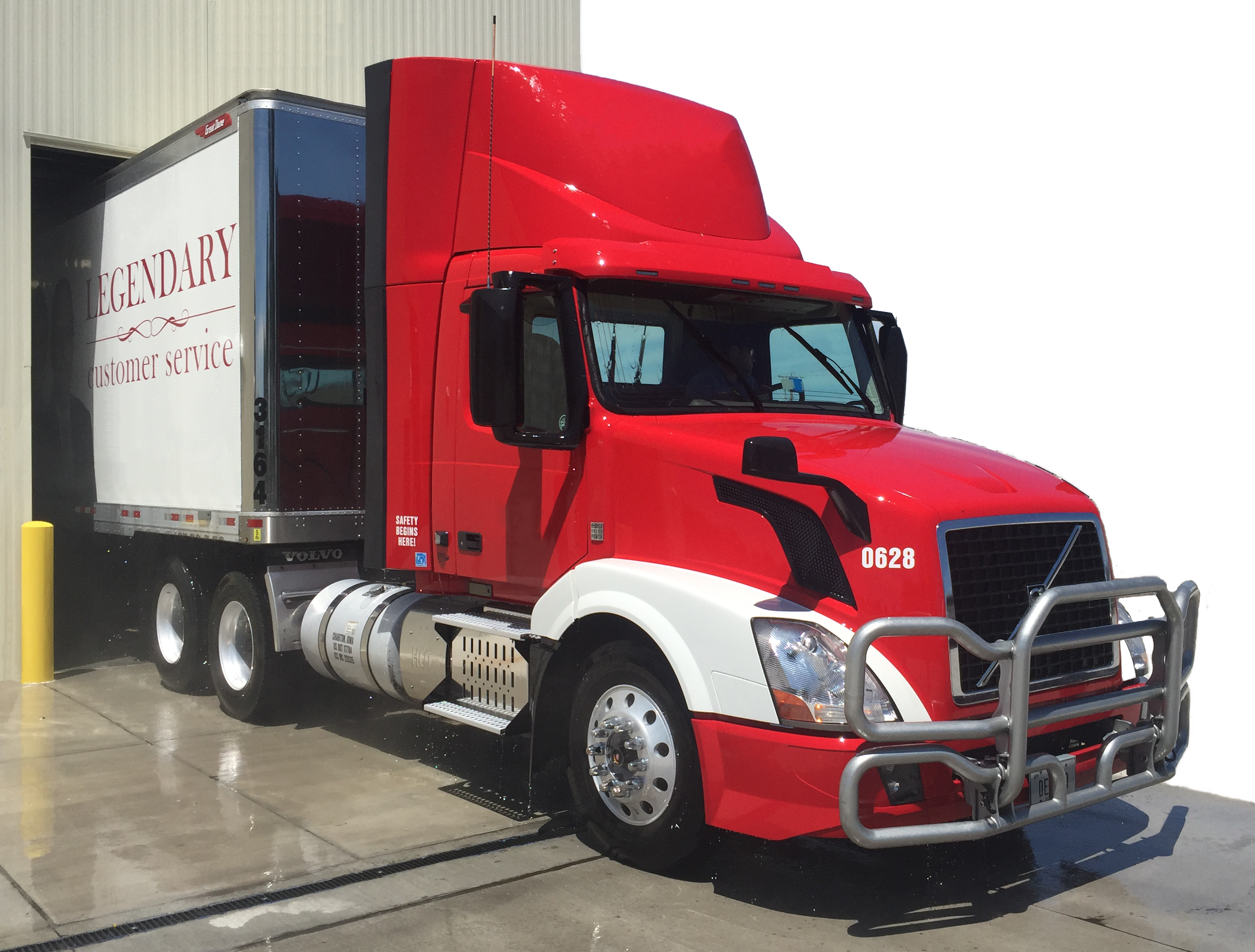 clean semi truck