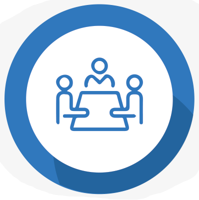 meeting around a table icon